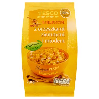 Tesco Cornflakes with Peanuts and Honey 250 g