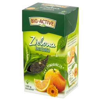 Big-Active Leaf with Orange Green Tea 100 g