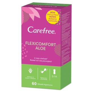 Carefree FlexiComfort Aloe Extract Pantyliners 60 Pieces