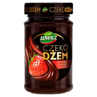 Łowicz Strawberry with Belgian Chocolate Choco Jam 250 g