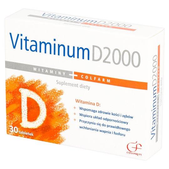 Colfarm Vitaminum D2000 Suplement diety 30 tabletek