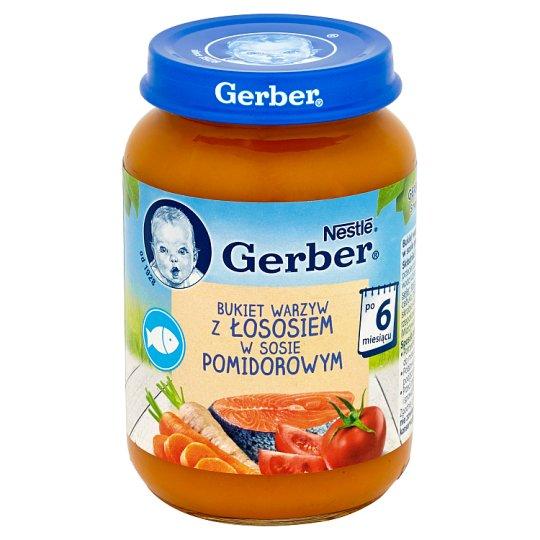 Gerber Bukiet warzyw z łososiem w sosie pomidorowym po 6 miesiącu 190 g