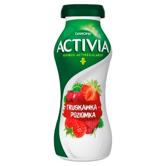 Danone Activia Strawberry and Wild Strawberry Yoghurt 195 g