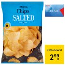 Tesco Chips Salted 225 g