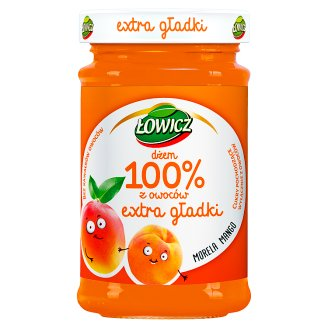 Łowicz Dżem 100% z owoców extra gładki morela mango 235 g
