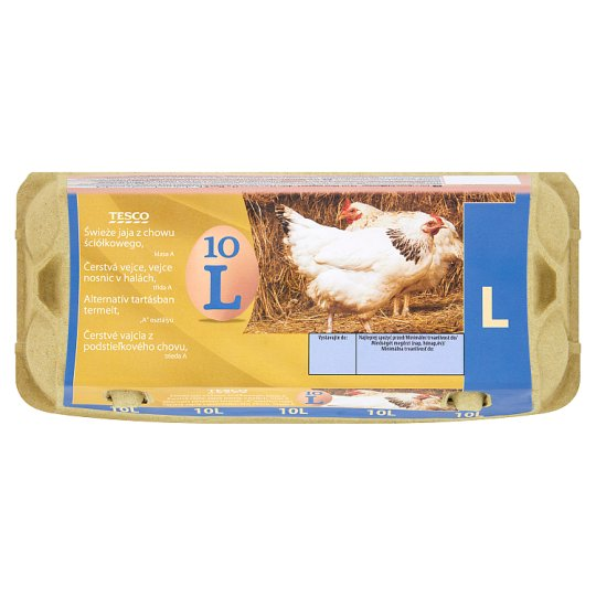 Tesco Jaja świeże z chowu ściółkowego kl. L 10 sztuk