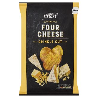 Tesco Finest Four Cheese Crinkle Cut 150 g