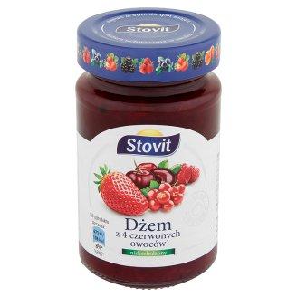 Stovit Dżem z 4 czerwonych owoców niskosłodzony 260 g