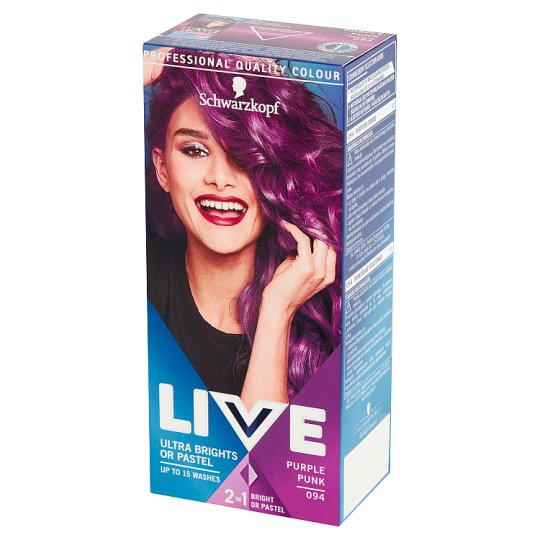Schwarzkopf Live Ultra Brights or Pastel Hair Colorant Purple Punk 094