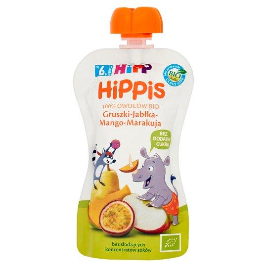HiPP BIO HiPPiS Pears-Apples-Mango-Passion Fruit Fruit Mousse after 6. Months Onwards 100 g