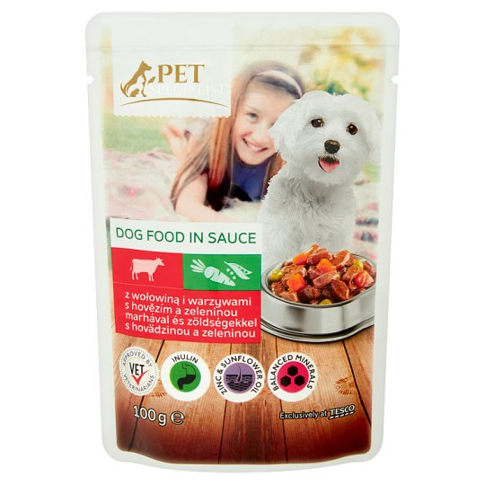 Tesco Pet Specialist Food for Adult Dogs with Beef and Vegetables in Sauce 100 g
