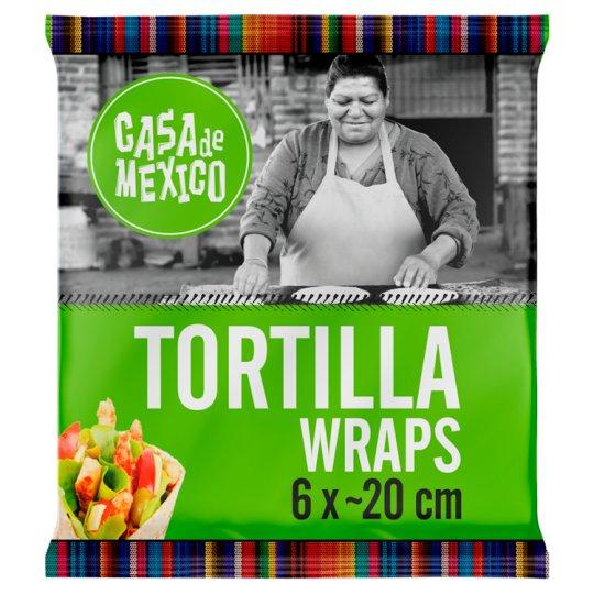 Casa de Mexico Wheat Tortilla Wrap 20 cm 240 g (6 Pieces)
