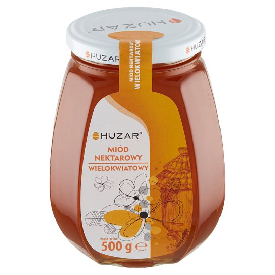 Huzar Miód pszczeli nektarowy wielokwiatowy 500 g