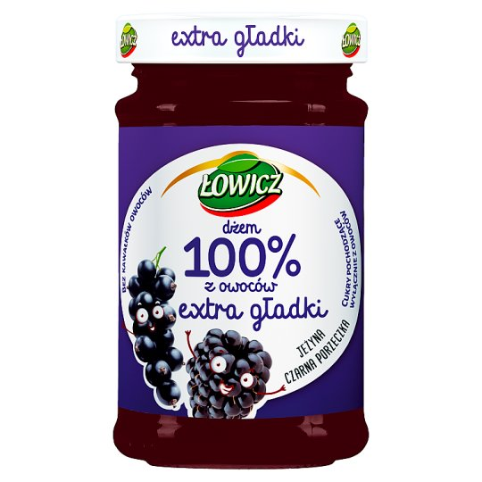 Łowicz Blackcurrant and Blackberry 100% Fruit Jam 235 g