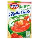 Dr. Oetker Słodka Chwila Kisiel z kawałkami owoców bez glutenu smak truskawkowy 31,5 g