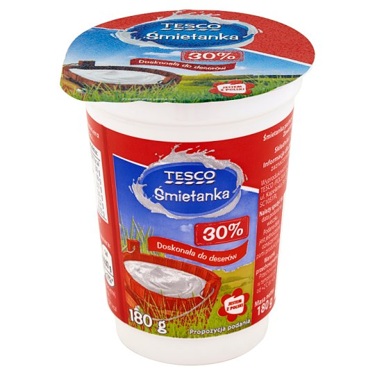 Tesco 30% Cream 180 g