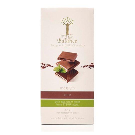 Balance Luxury No Added Sugar Belgian Milk Chocolate with Stevia 85 g