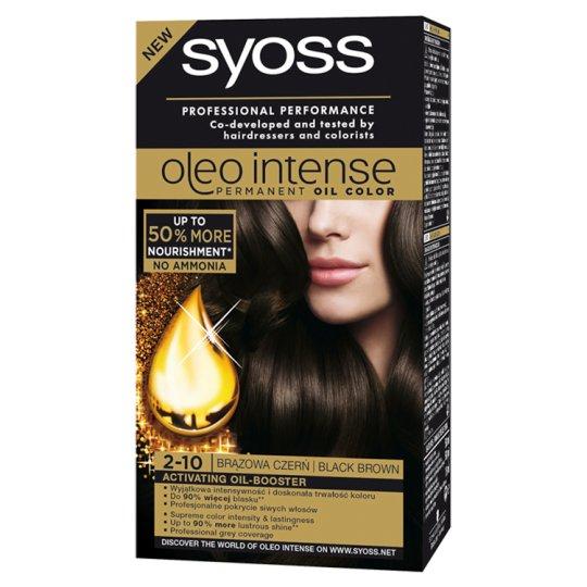 Syoss Oleo Intense Farba do włosów Brązowa czerń 2-10