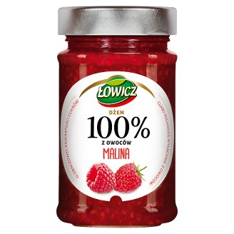 Łowicz Raspberry 100% Fruit Jam 220 g