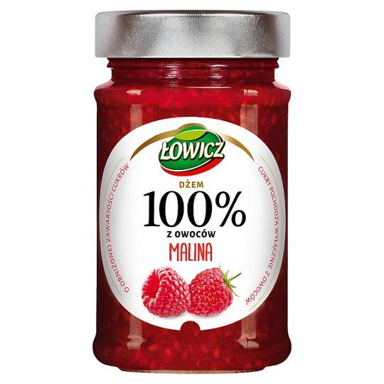 Łowicz Raspberry 100% Fruit Jam 220 g