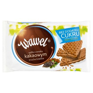 Wawel Bez dodatku cukru Cocoa Flavoured Wafers 110 g