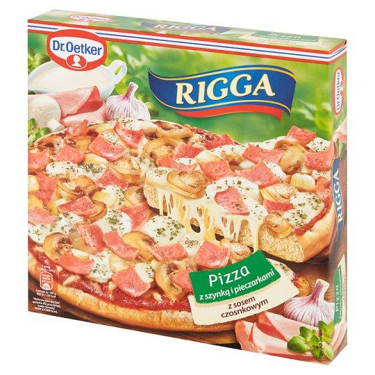 Dr. Oetker Rigga Ham and Mushrooms with Garlic Sauce Pizza 270 g