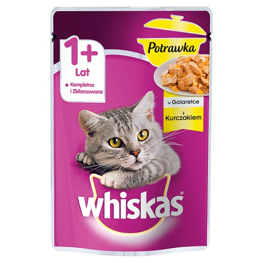 Whiskas 1+ Years Stew in Jelly with Chicken Complete Cat Food 85 g
