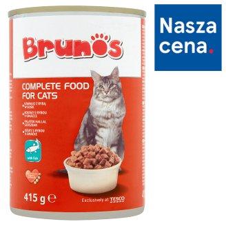 Brunos Karma dla dorosłych kotów kawałki z rybą w sosie 415 g