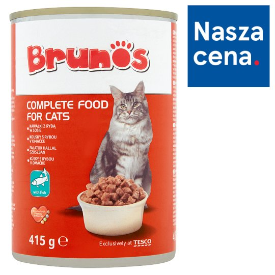 Brunos Chunks with Fish in Gravy Food for Adult Cats 415 g