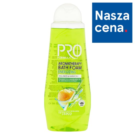 Tesco Pro Formula Energizing Aromatherapy Bath Foam 750 ml