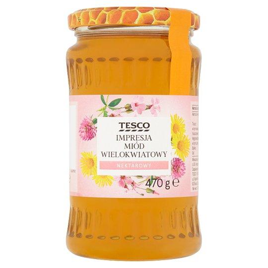 Tesco Impresja Miód wielokwiatowy nektarowy 470 g