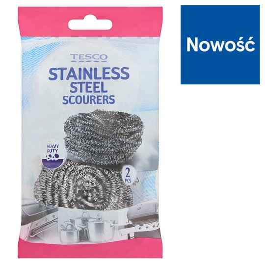 Tesco Stainless Steel Scourers 2 Pieces
