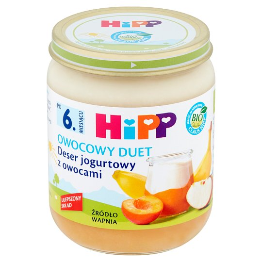 HiPP BIO Owocowy Duet Yoghurt Dessert with Fruits after 6 Months Onwards 160 g