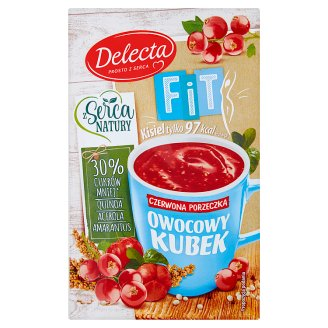 Delecta Owocowy kubek Fit Red Currant Flavoured Soft Jelly 26 g
