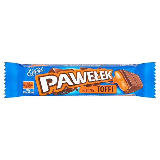 E. Wedel Pawełek Milk Chocolate Bar with Toffee Filling 45 g
