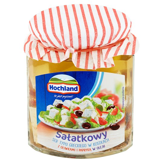 Hochland Salad Greek Type Cheese with Olives and Paprika in Oil 300 g