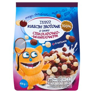 Tesco Chocolate and Vanilla Flavoured Cereal Balls 450 g