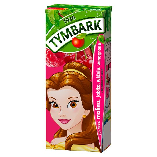 Tymbark Raspberry Apple Cherry Grape 100% Juice 200 ml