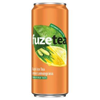 FuzeTea Black Ice Tea Lemon Lemongrass Drink 330 ml
