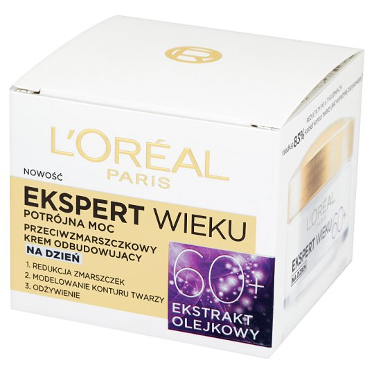 L'Oreal Paris Ekspert Wieku 60+ Triple Power Anti-Wrinkle Rebuilding Day Cream 50 ml