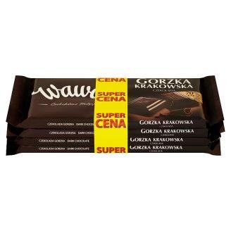 Wawel Gorzka Krakowska Dark Chocolate 4 x 100 g