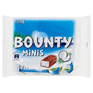 Bounty Minis Batoniki z nadzieniem kokosowym oblane czekoladą 170 g