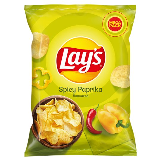 Lay's Spicy Paprika Flavoured Potato Crisps 215 g