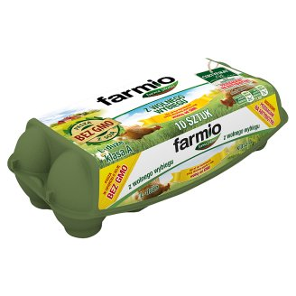 Farmio Jaja z wolnego wybiegu od kur karmionych paszą bez GMO L 10 sztuk