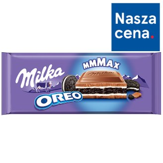 Milka Oreo Cocoa Biscuits with Vanilla Flavoured Creamy Filling in Milk Chocolate 300 g