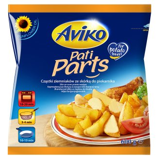 Aviko Pati Parts Skin on Oven Potato Wedges 600 g