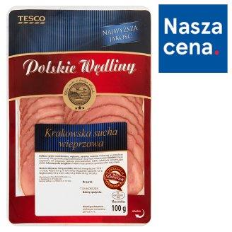 Tesco Polskie Wędliny Krakowska sucha wieprzowa 100 g