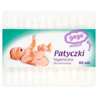 Gaga Premium Patyczki higieniczne dla niemowląt 60 sztuk