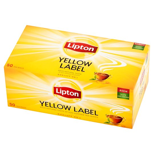 Lipton Yellow Label Black Tea 100 g (50 Tea Bags)