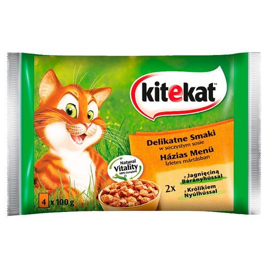 Kitekat Delicate Flavors in a Juicy Sauce Complete Cat Food 400 g (4 x 100 g)